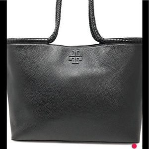 Tory Burch Taylor Black Leather Tote w/Dust Bag